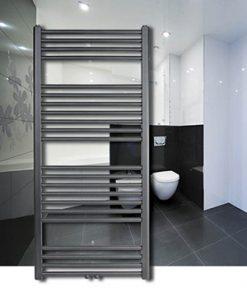 Thermrad Basic 6 handdoek radiator antraciet badkamer