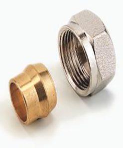 heimeier radiator aansluit koppeling voor 15 mm buis met m24 wartel