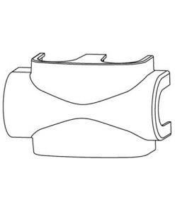 heimeier radiator onderaansluiting afdekkap voor multilux kleur wit