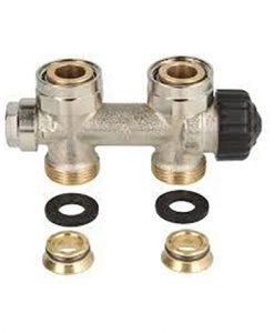heimeier radiator onderaansluiting type multilux radiator onderblok recht euroconus