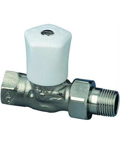 heimeier radiatorkraan type handbediende mikrotherm recht