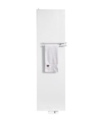 henrad alto plan radiator vlakke voorplaat verticaal met handdoekdrager