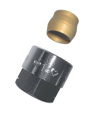 herz radiator aansluit koppeling voor 15 mm buis met m22 wartel