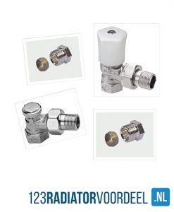 radiator installatie pakket handbediende radiatoraansluiting