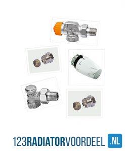 Radiator installatie pakket thermostatische radiatoraansluiting