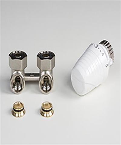thermrad radiator onderaansluiting projectset haaks met thera 4 regelelement