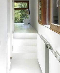 vasco flat line radiator vlakke voorplaat horizontaal woonkamer