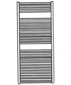 veraline economy handdoek radiator kleur wit schets