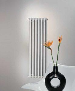 Zehnder Charleston verticale designradiator 1800x460x62mm. Aansl. MM (HxLxD) wit RAL 9016